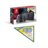 Nintendo Switch (Grey) + GBP30 Nintendo eShop Voucher