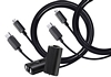 AmazonBasics Play and Charge Kit with Braided Cable for Xbox One, Xbox One S, and Xbox One X (2 Pack), Black