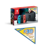 Nintendo Switch (Neon Red/Neon Blue) + GBP30 Nintendo eShop Voucher